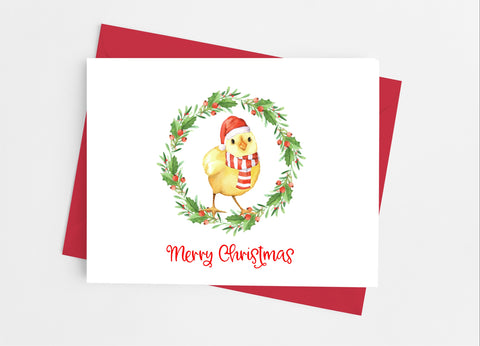 Christmas Chick Note Cards - Cathy's Creations - www.candywrappershop.com