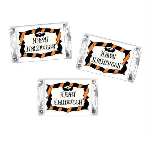 Happy Halloween Mini Candy Bar Wrappers - Cathy's Creations - www.candywrappershop.com