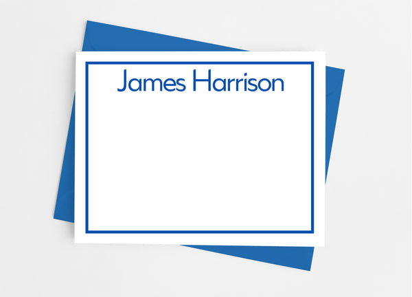Personalized Stationery Flat Note Cards - Professional Border - Cathy's Creations - www.candywrappershop.com
