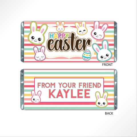 Easter Bunny Stripes Candy Bar Wrapper-Candy Bar Wrapper-Cathy's Creations - www.candywrappershop.com