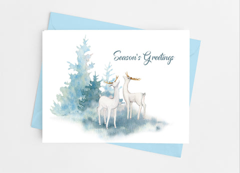 Holiday Deer Note Cards - Cathy's Creations - www.candywrappershop.com