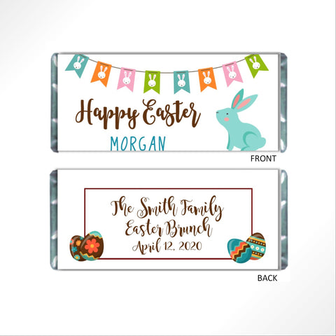 Easter Bunny Banner Candy Bar Wrapper - Cathy's Creations - www.candywrappershop.com