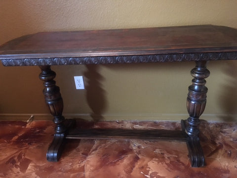 Antique Entry Table After Old English Application