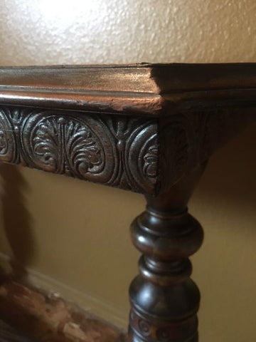 Carved Detail on Antique Table