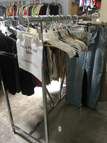 Agua Fria Food & Clothing Bank Men's Rack
