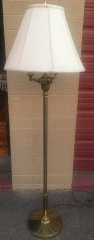 Brass Floor Lamp with Fabric Shade