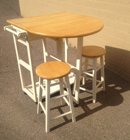 Drop Leaf Table with 2 Stools