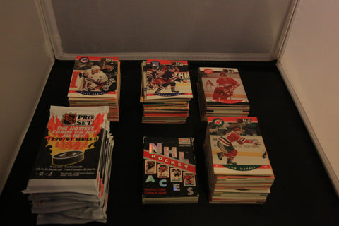 Collection of 1990's NHL Trading Cards & Playing Cards