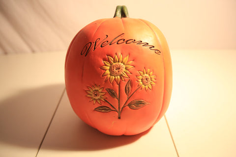 Welcome Pumpkin Fall Decor