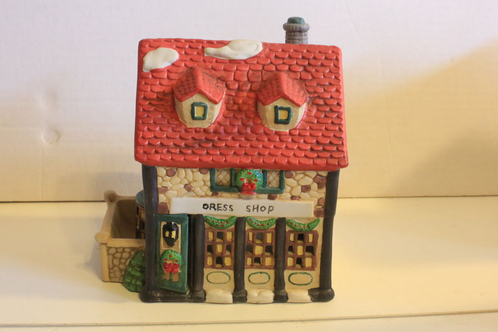 Christmas Village - Dress Shop - Dickens Collectible 1995