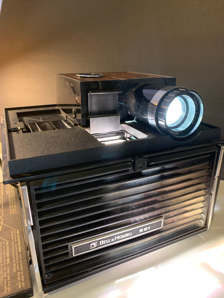 Bell & Howell 991 Vintage Slide Projector Cube