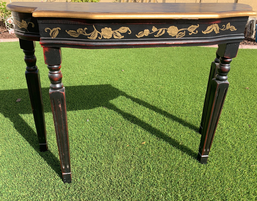 Black and Gold Hall Entry Table
