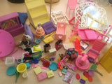 Large Lot of Barbie Accessories and Furniture