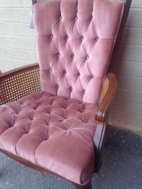Vintage Broyhill Tufted Cane Chair – Purpose Thrift