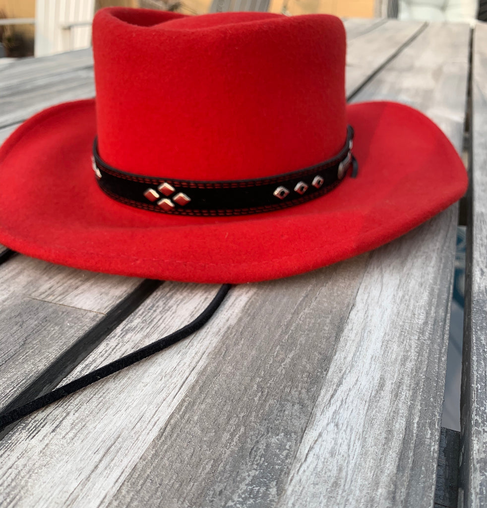 Wool Outback Trading Co Sz Small 1422 Ascot Red Cowboy Hat