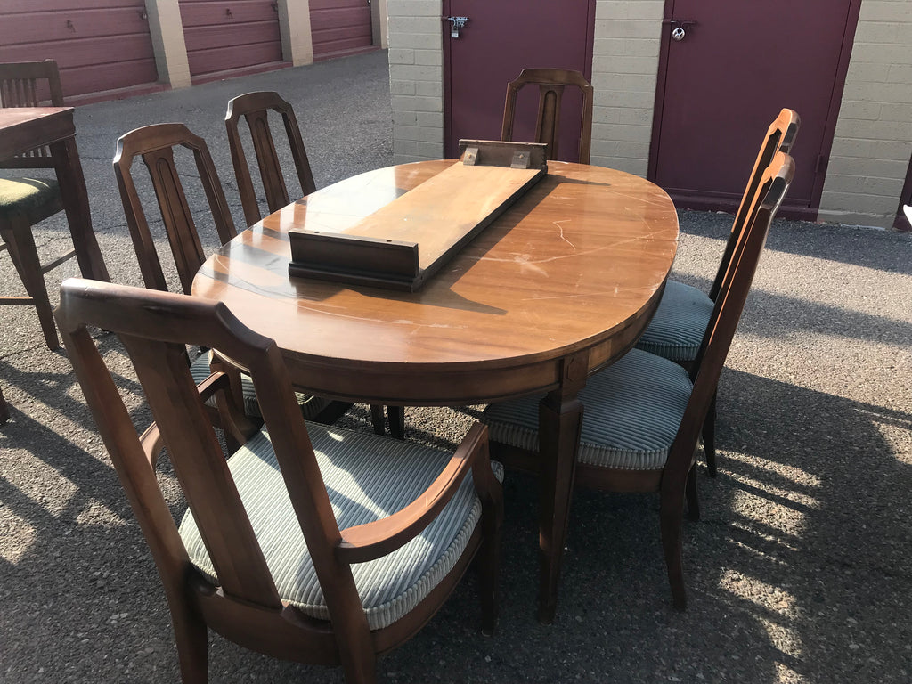 Vintage Firenze Fruitwood Drexel Dining Table and Chairs