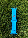 New - Blue Silicone Smart - Fits Apple - Watch Band 42mm