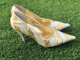 Silver and Gold Naughty Monkey High Heels 7.5