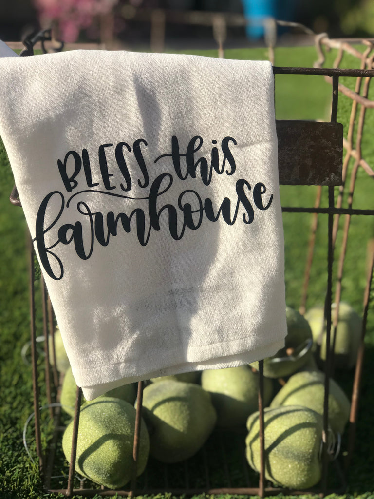NEW - Bless this Farmhouse Kitchen Dish Towel