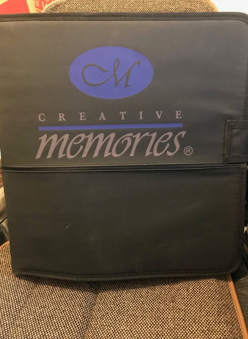 Creative Memories Binder with 21 Inserts and Stickers and Accessories
