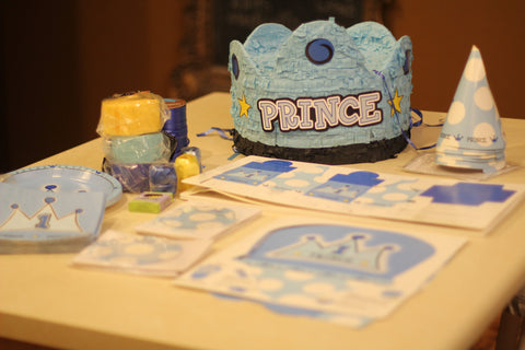 Baby Boy Prince 1st Birthday Decorations