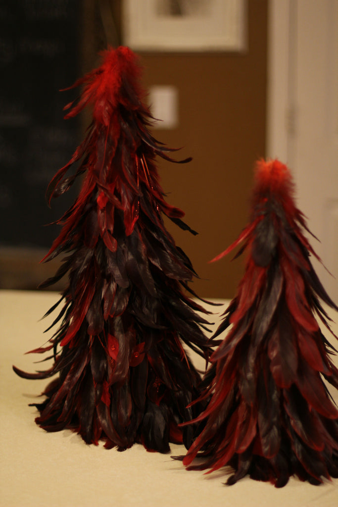 Two Red Feather Trees