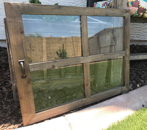 Pane Wood Window Frame with double glass