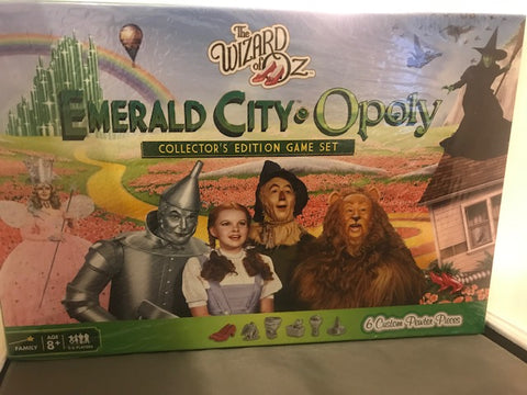 NEW - The Wizard of Oz Emerald City Opoly Collector's Edition Game Set