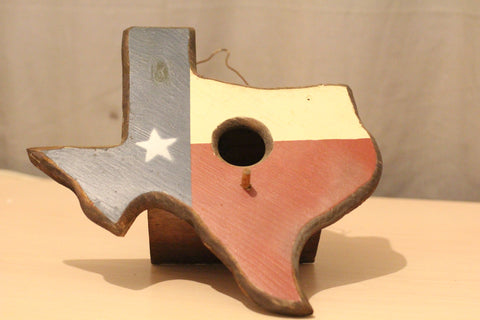 Texas State Shaped Wooden Bird House