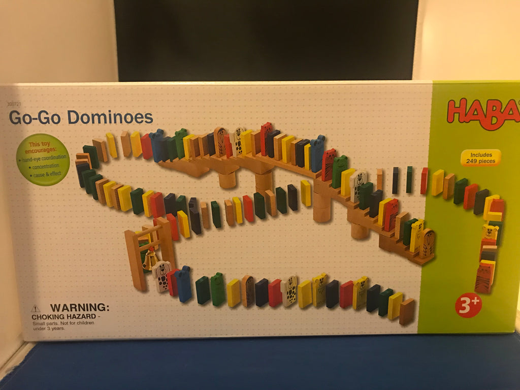 NEW in Box - HABA GO-GO Wooden Dominoes 249 Pieces