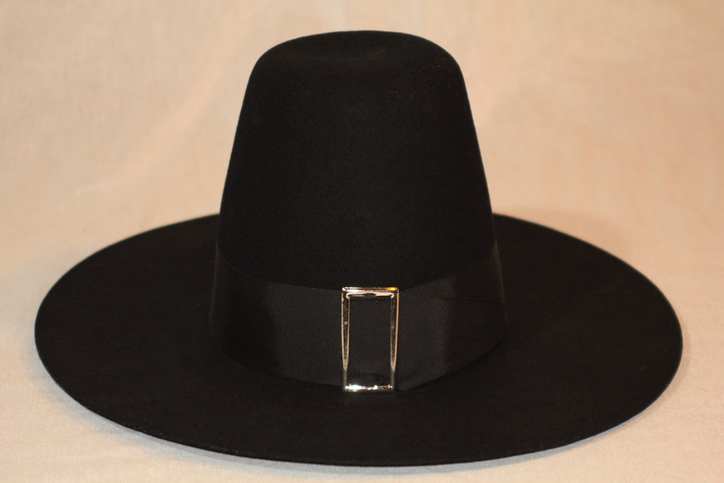 Black Wool Pilgrim's Hat