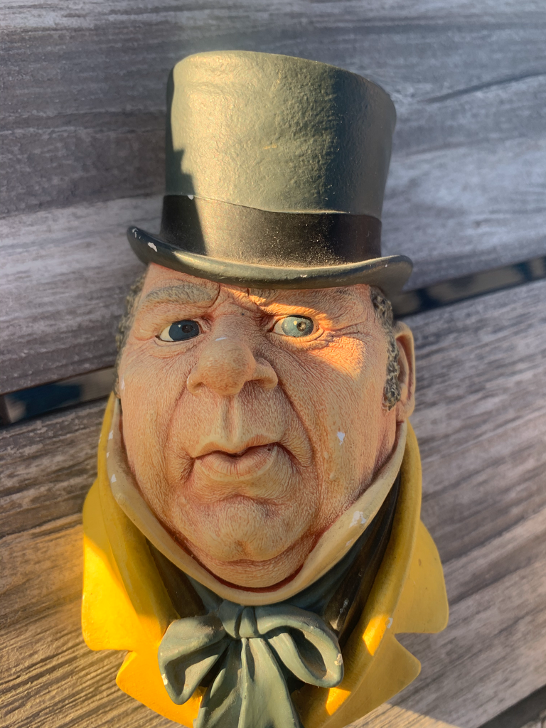 Handpainted 1964 Bossons England Chalkware Head Mr. Micawber