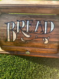 Vintage wood bread box