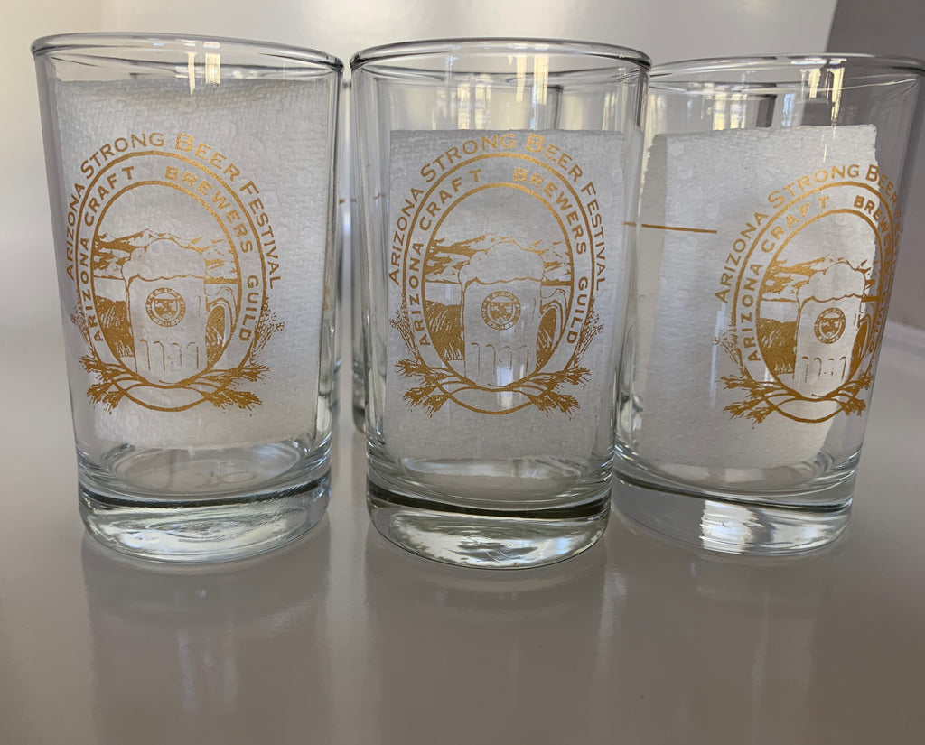 Set of 6 Arizona Strong Beer Festival Glasses