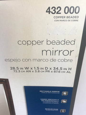 Glacier Bay Copper Beaded Mirror Bronze