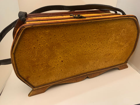 Purse Shaped Wood Decor Storage Box