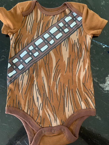 New Star Wars Chewbacca Onesie 12months