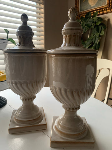 Set of Two Decorative Urns