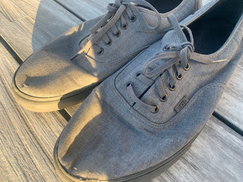 Men's Vans Sz 13 Gray with Gray bottoms