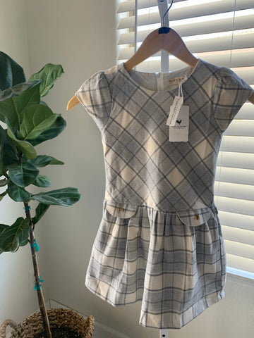New Hope & Henry Girls Plaid Dress Sz 5
