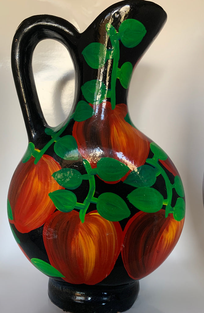 Handpainted Mexican Pottery Pitcher