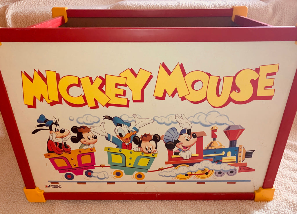 Vintage Mickey Mouse Toy Box by American Toy Furniture