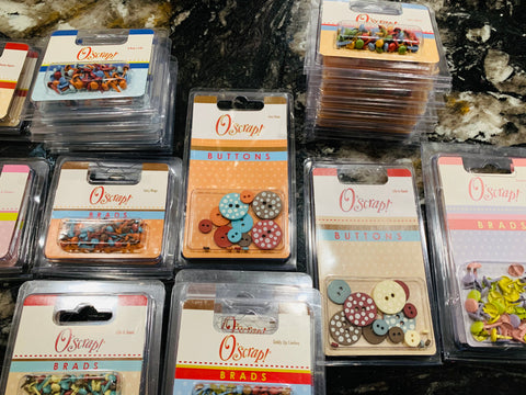 Lot of New Scrapbooking Brads and Buttons