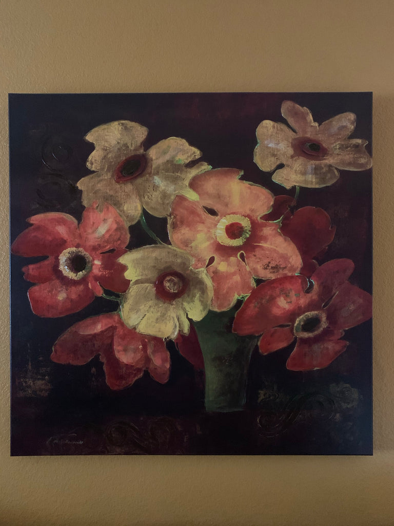 Large Stretched canvas Floral Painting