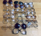 22 Pairs of Vintage 1980's style prescription eyeglasses frames