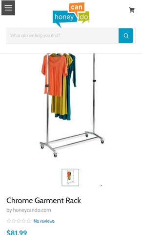 New Chrome Garment Rack