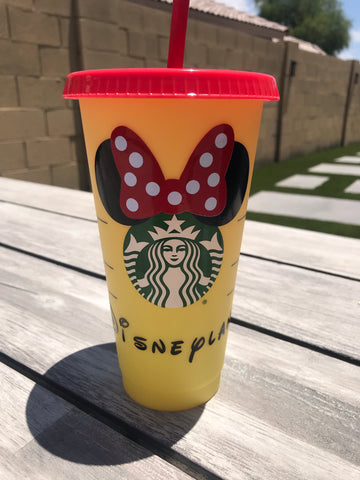 New Starbucks Customized Color Changing Cold Beverage Cup