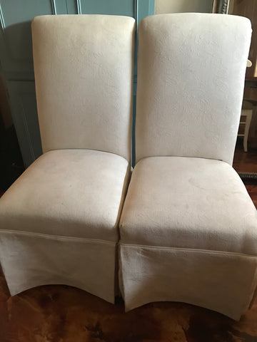 Upholstered Dining Room Chairs (Pair)