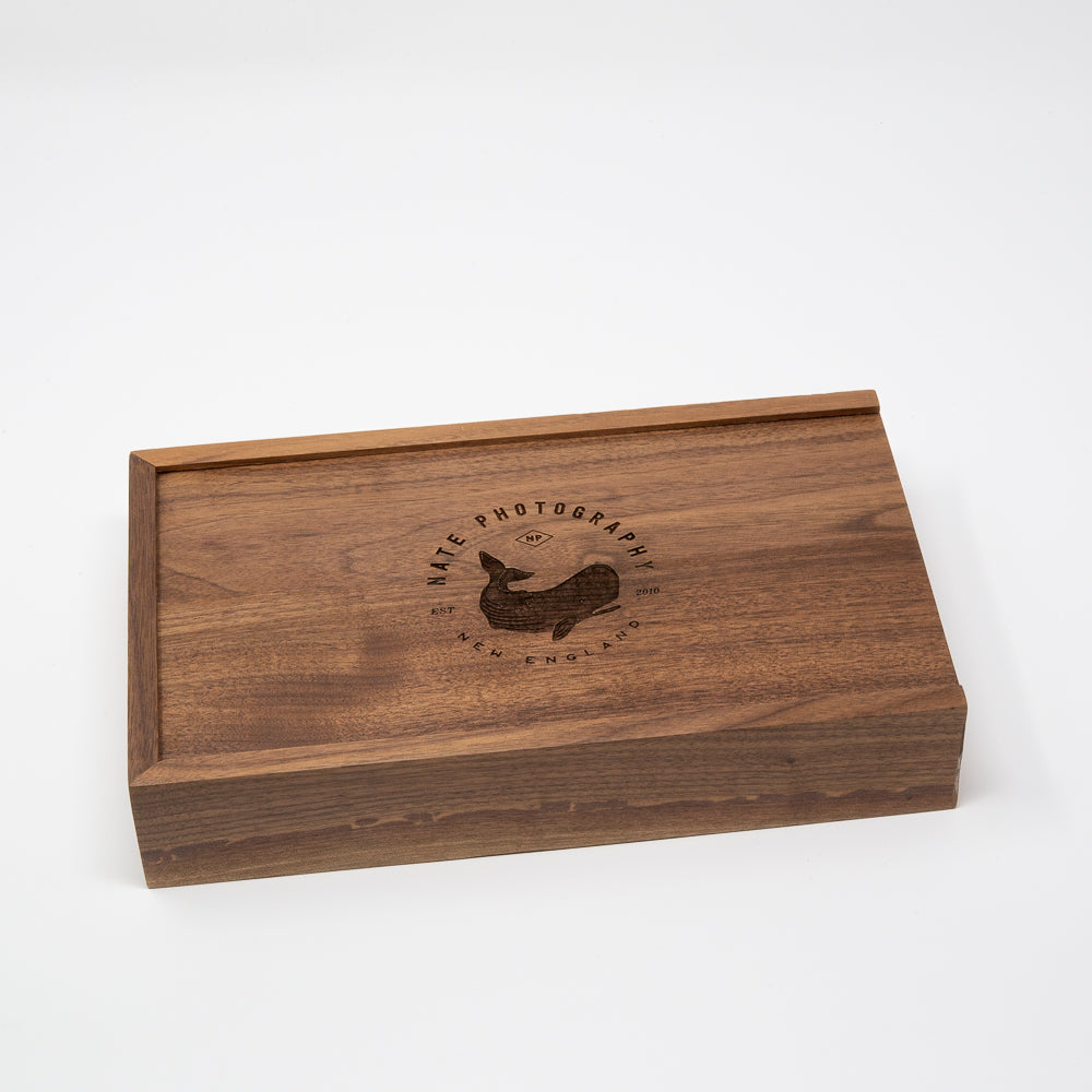 5 x 7 Walnut Photo Box and USB Flash Drive 3.0 (Available end of Jan.)