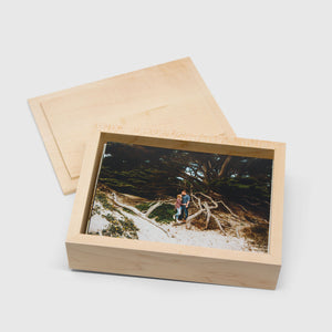 Maple Photo Box with Top Lid